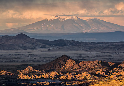Granite Dells and San Francisco Peaks-500mm lens