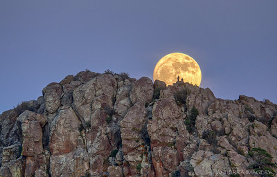 Full Moon Rising over Thumb Butte