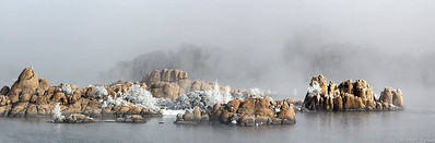 Rime encrusted chaparral at Watson lake