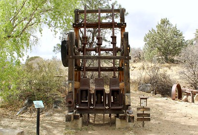 Historic mining display at Fain Park (2018)