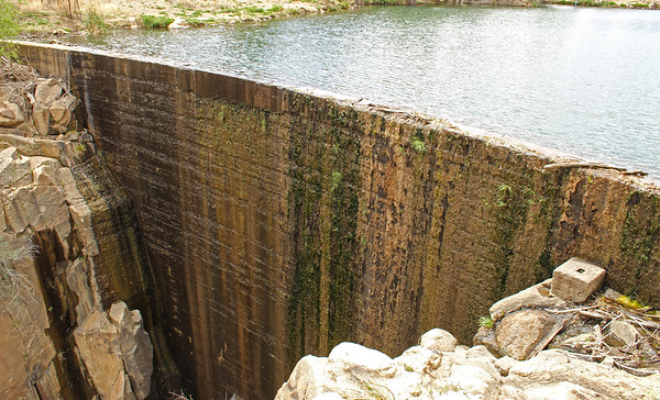 Historic dam at Fain Lake - 2018