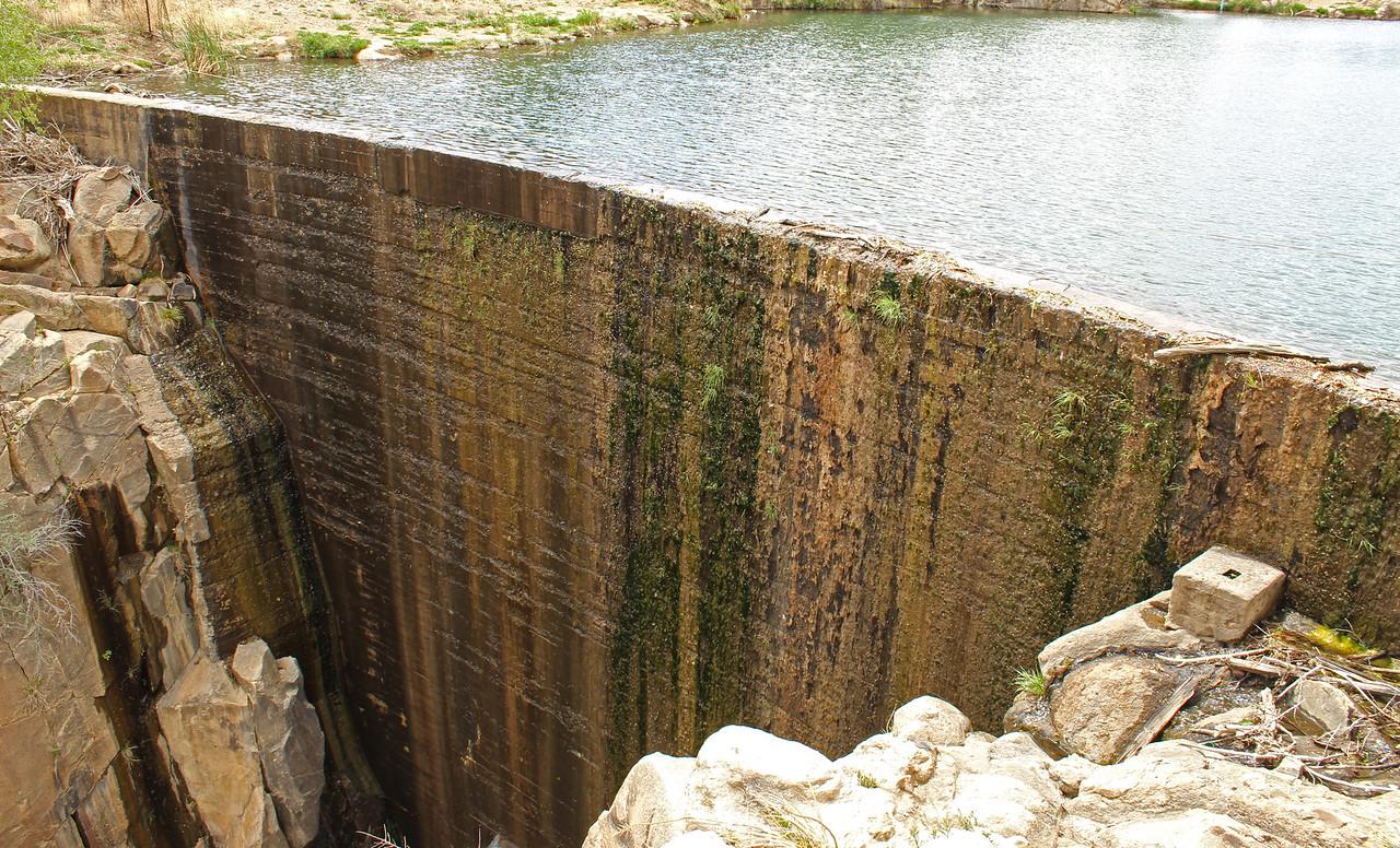 Historic dam at Fain Lake - 2018