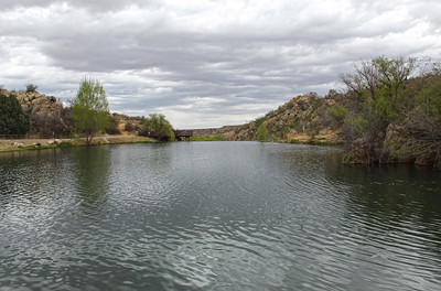 Looking toward the dam at Fain Lake - 2018