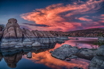 Fiery Sunset over Watson Lake