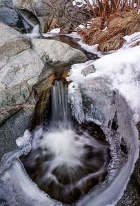 Ice Bound Wolf Creek Cascades