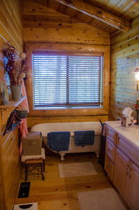Master bath with a great claw foot tub.