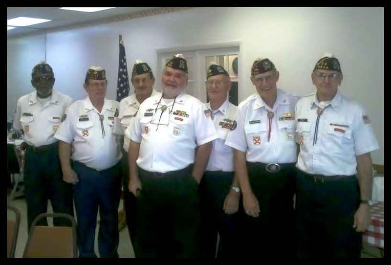 Ray Cochran NMCB-7 (Bearded center) elected Commander of the NSVA Lakeland, Florida Island with the the other Island Officers