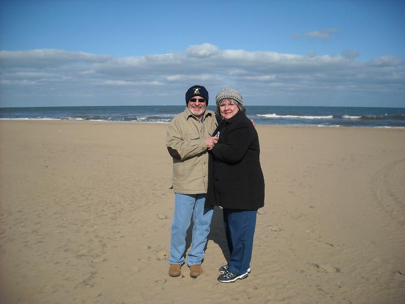 Colder than a well-digger's patootie.  Twenty nine degrees on the beach in Virginia Beach, VA - Mar '09.
