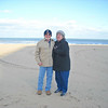 Rev and Sher.  On the beach in Virginia Beach, VA - Mar '09.