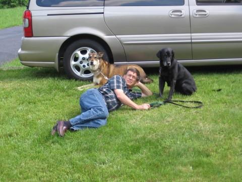 With Obie and Jasper