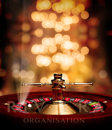roulette soft background with rays poster
