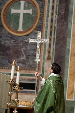Presentation of processional cross
