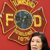 A donation of Lucas 3's to fire departments from all over the region was held on Saturday at the Townsend Fire Department. Dorothy Chen-Courtin a board member with Greater Lowell Community Foundation talks about the Lucas 3 at the event. SENTINEL & ENTERPRISE/JOHN LOVE