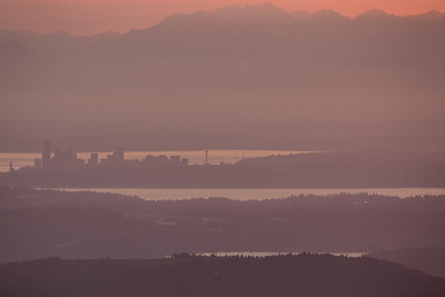 Seattle from Mt Si