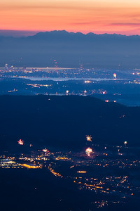 4th July Fireworks from Mt Si