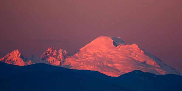Alpenglow on Mt Baker