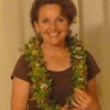 Our speaker, Cathy Davenport. Tamara Sherrill made Cathy's lei of Schiedea globosa, loulu flowers, 'ulei, & 'akia berries from Maui Nui Botanical Garden.