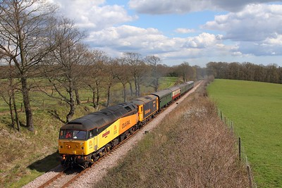 47739+73119 on the 1420 Sheffield Park to East Grinstead at Freshfield on the 17th April 2016 1