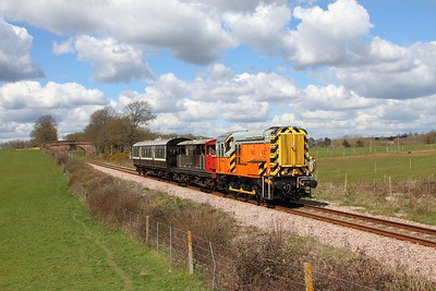 09018 on the 1210 Horstead Keynes to Sheffield Park at Freshfield on the 17th April 2016