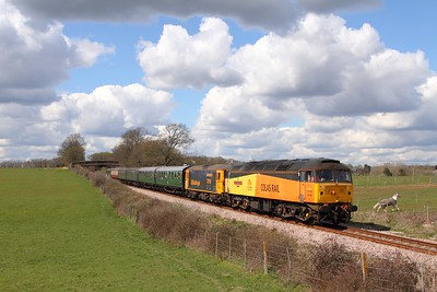 47739+73119 on the 1300 East Grinstead to Sheffield Park at Freshfield on the 17th April 2016