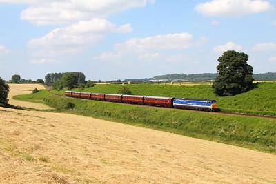 50026 on the 1520 Bridgenorth to Kidderminster at Eardington bank on the 23rd June 2014