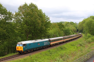 50008 on the 1040 Kidderminster to Bridgnorth at Highley on the 20th May 2017