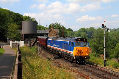 50026 on the 1520 Bridgenorth to Kidderminster at Highley on the 23rd June 2014