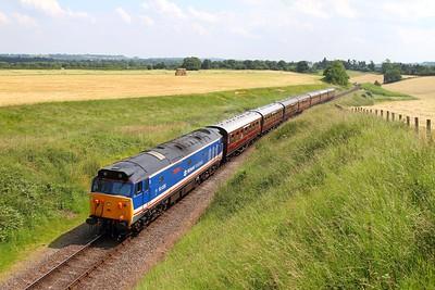 50026 on the 1405 Highley to Bridgenorth at Eardington bank on the 23rd June 2014