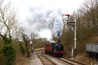 Jinty 47406 just south of Midsomer Norton South during a Timeline photo charter on the 23rd March 2018 1