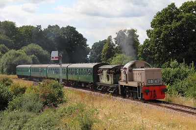D9537 on the 2T72 1415 Eridge to Tunbridge Wells West on the 5th August 2016