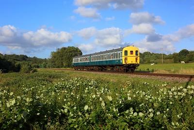 1317 DEMU on 2T26 1830 Eridge to Tunbridge Wells at Pokehill farm on 6 August 2021  SpaValleyRailway