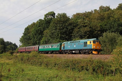 26038 on the 2J73 1620 Tunbridge Wells to Eridge at Ford Farm Crossing on the 1st August 2014