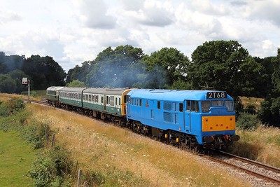 31289+1317+D5310 on the 2T68 1250 Groombridge sidings to Tunbridge Wells West on the 5th August 2016