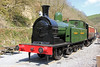 Taff Vale Railway 0-6-2T no. 28 has arrived at the Gwili Railway following cosmetic restoration to GWR livery. (It was absorbed by the GWR as its no. 450.)<br /> The loco is the subject of an appeal by the Gwili Railway, the Llangollen Railway and the NRM to return it to steam as part of the 'Welsh Train' project. Llwyfan Cerrig, 19th April 2014.