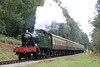 GWR 2-6-2T no. 5541 between Whitecroft at Parkend with the 1205 from Lydney Junction on 18th September 2016.
