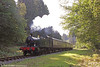 GWR 2-6-2T no. 5541 approaches Parkend with the 1025 from Lydney Junction on 18th September 2016.