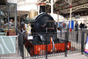 3041 'The Queen' was a Dean Single 4-2-2 of 3031, or 'Achilles', class built by the GWR between 1891 and 1899. None of the original class survive, but this replica was commissioned by Tussauds for the Railways and Royalty exhibition at Windsor and Eton Central in 1982. It is seen on 12th November 2011.