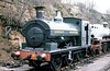 Port Talbot Railway 0-6-0ST no. 813 at Bewdley on 29th March 1980.