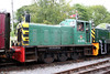 Former BR class 03 no. D2178 now has had its BR logo and running number applied, as seen at Bronwydd Arms on 14th August 2010.