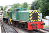 Former BR class 03 0-6-0DM no. D2178 and class 14 0-6-0DH no. D9521 at Bronwydd Arms, Gwili Railway on 14th August 2010.