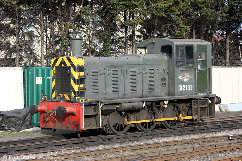 Class 03 no. D2133 at Minehead, WSR, on  30th March 2013.