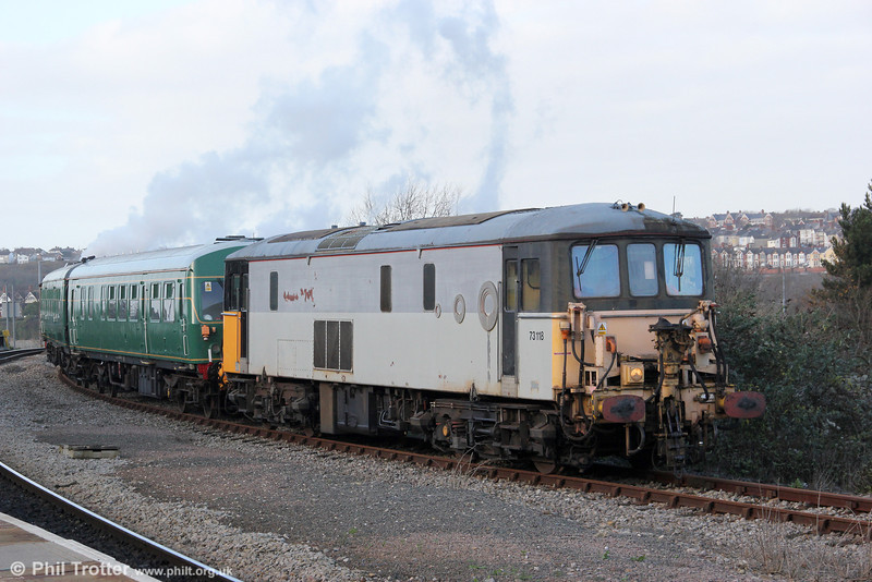 73118 at Barry Island with a 'Santa Special' train on 3rd December 2011.