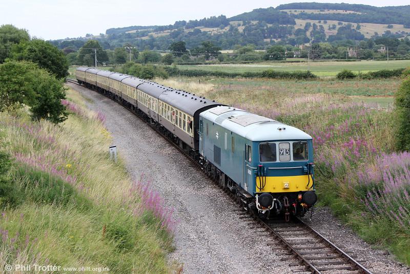E6036 (73129) at Hailes with 2C76, 1640 Toddington to Cheltenham Racecourse on 27th July 2013.