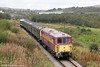 73128 'OVS Bulleid CBE' at Forgeside, P&BR with the 1217 Whistle Inn to Blaenavon High Level on 15th October 2011.