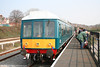 Barry Island Railway's class 108 waits to leave Woodhams Halt with the 1157 ecs for Barry Depot on 31st March 2007.