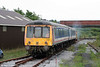 Sentinel 4wDH 10222 propels the L&MMR's class 117 dmu with DMS 51396 leading towards the platform at Cynheidre on 11th July 2010.