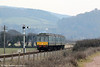 The WSR's class 115 ambles towards Blue Anchor forming the 1735 Minehead to Bishops Lydeard on 1st April 2013.