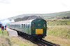 Former SR class 205 demu Driving Trailer no. 60828 leads uphill from Furnace Sidings at the Pontypool & Blaenavon Railway, forming the 1045 to Whistle Inn Halt on 28th July 2007.