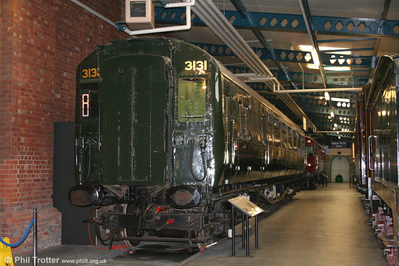1937 built 4-cor DMBTO S11179S from unit 3131 at the NRM, York on 1st May 2007.