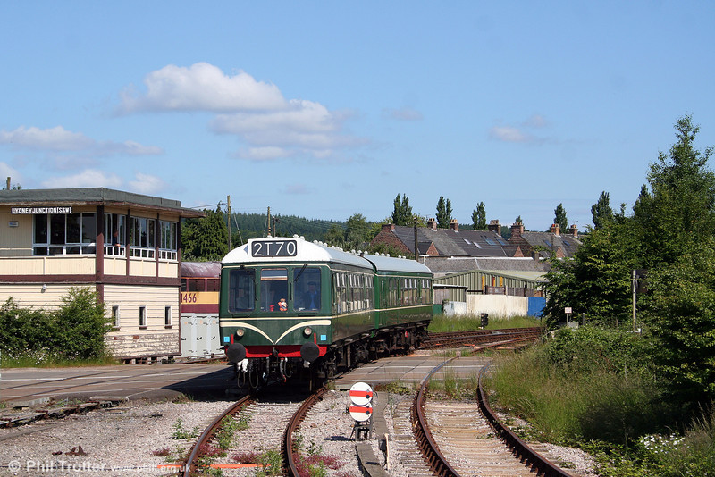 The DFR's Derby Class 108 unit arrives at Lydney Junction on 14th June 2008.